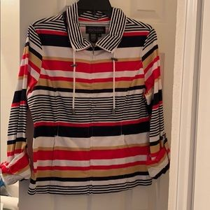 Striped jacket with pockets